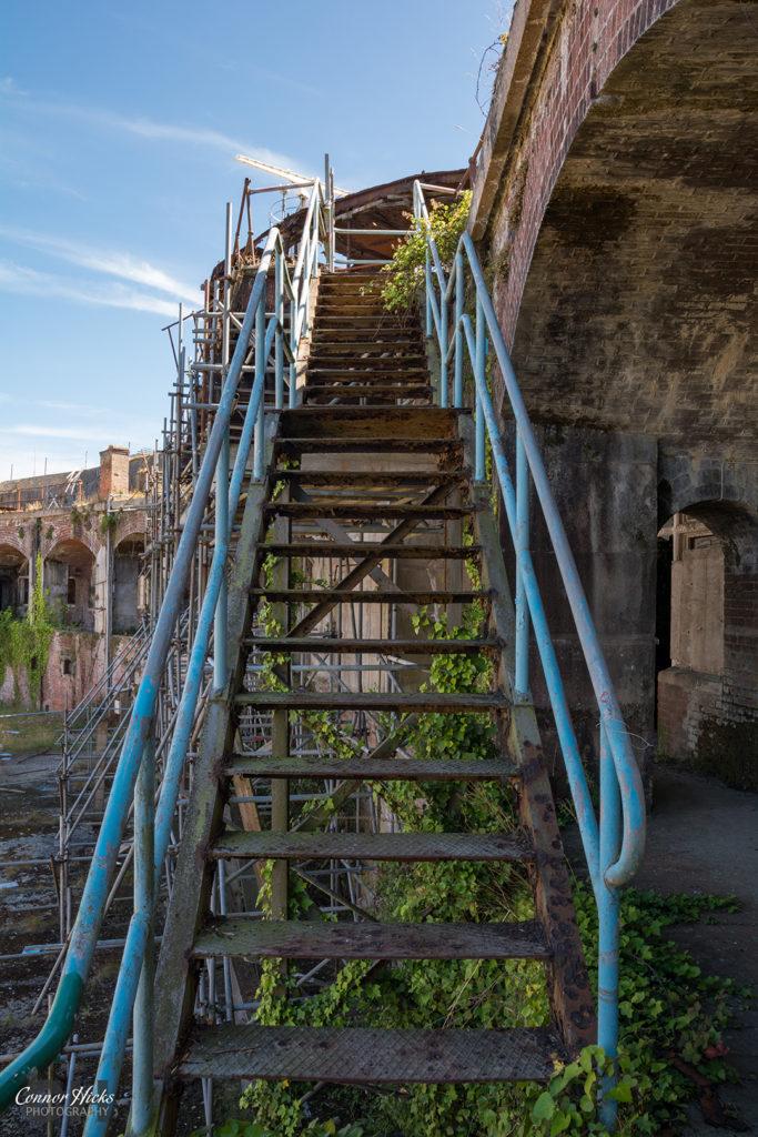 Stairs Gilkicker Gosport 683x1024 Fort Gilkicker, Gosport