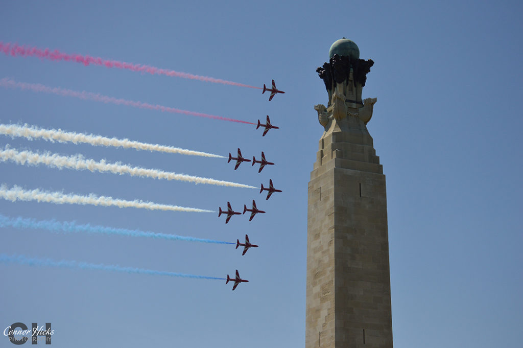 D Day 70 Portsmouth Southsea Hampshire Photography Photographer Red Arrows 9 1024x681 D Day 70 Commemorations, Southsea