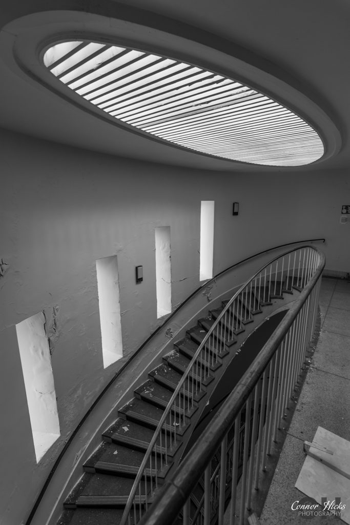 Urbex The Royal Hospital Haslar Gosport Hampshire July 2015 Revisit Spiral Staircase skylight 683x1024 The Royal Hospital Haslar, Gosport