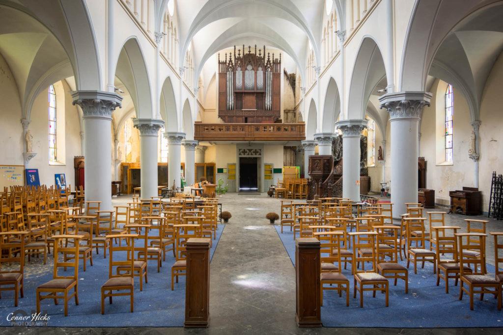 church urbex belgium urban exploraiton  1024x683 Anti Christ Church, Belgium