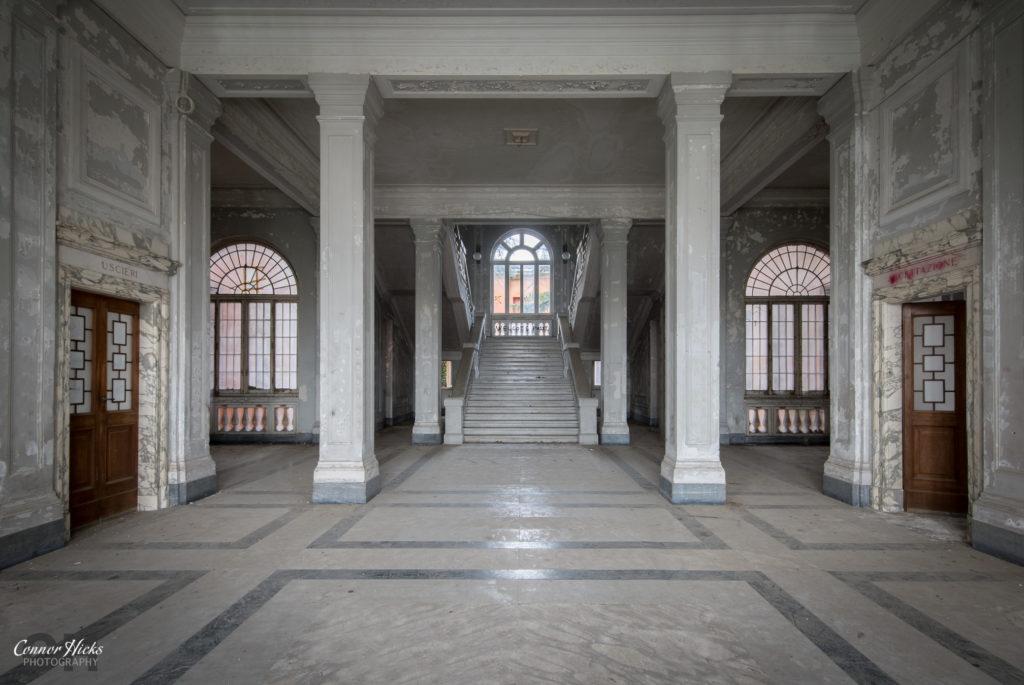 Ospedale Psichiatrico Di Q urbex italy stairs 1024x685 Ospedale Psichiatrico Di Q, Italy